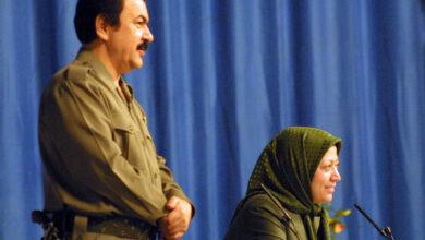 صورة الثوره العقادية الثانية ونصب مريم كرئيسة للجمهورية في فرقة رجوي