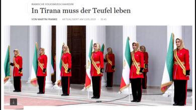 """صورة صحيفة ألمانية تصف مجاهدي خلق بـ""""شياطين تيرانا"""""""