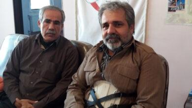 Photo of حضور عاطفي عائلة كريمي في مكتب جمعية النجاة كرمانشاه