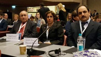 صورة شارك وفد من نقاد فرقه رجوي في مؤتمر حقوق الانسان في جنيف سويسرا