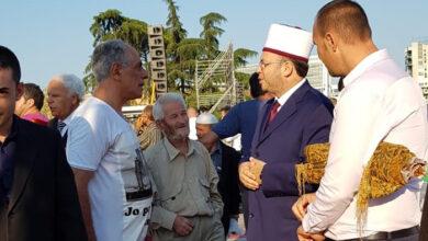 صورة شارك السيد مصطفي محمدي في صلاة عيد الاضحي في تيرانا