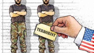 صورة تعاون حکومة أمریکا الإرهابیة مع مجاهدي خلق الإرهابیة