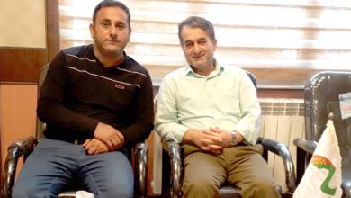 صورة السيد داريوش بال افكنده في مكتب جمعية النجاة محافظة جيلان