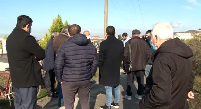 Albanian protesters