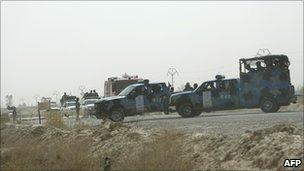 Iraqi police at ashraf camp