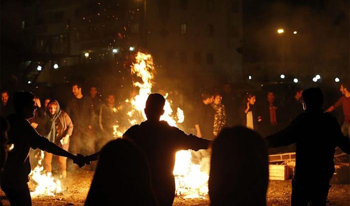 Fire Festival in Iran