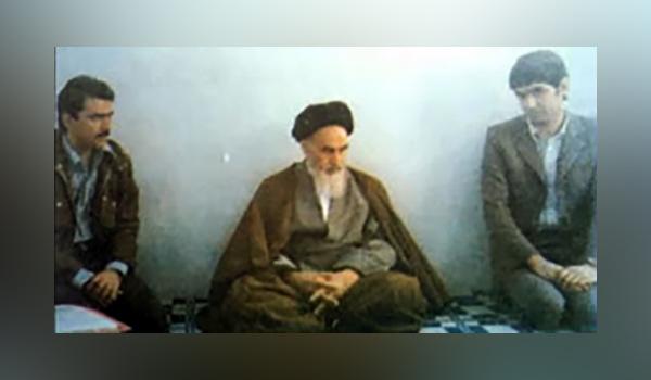 Rajavi and Khiabani meeting Ayatollah Khomeini