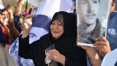 Families at MEK Camp Gate- Liberty-Iraq