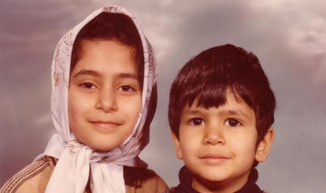 Maryam Gheitani and her brother Alireza
