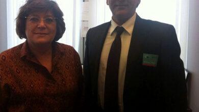 Photo of MKO former member meets EUP representative in Brussels