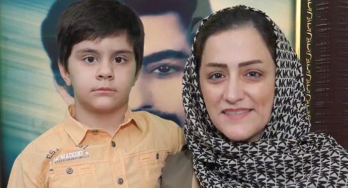 Leila Kiukan and her son