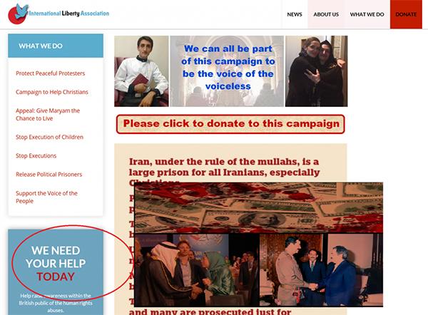 MEK terrorists charity in London - iran liberation organization