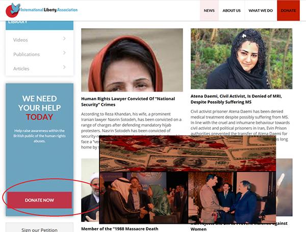the mek terrorists charity in London- Iran Liberation Organization