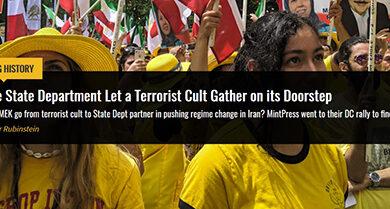 Photo of MEK Terrorist Cult on State Department Doorstep