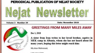 Photo of Nejat Newsletter No. 58