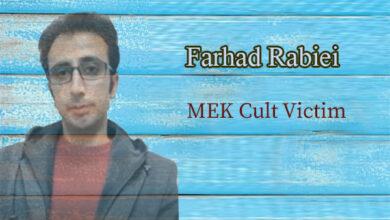 Farhad Rabiei - son of Barat who is captive in the MEK camp in Albania