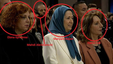 Photo of Iranian MEK Jihadis at Christmas Mass in Tirana like Pontius Pilate Who Crucified Jesus Christ