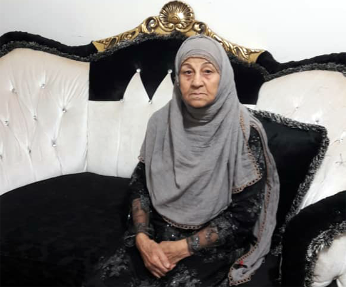 Zahra Kaabi, the mother of Mohammad and Fatemeh Raisvand - Alborz