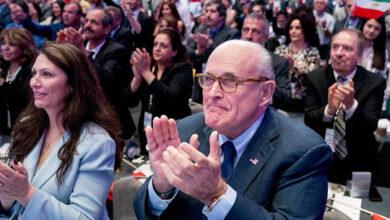 Photo of Rudy Giuliani and MEK