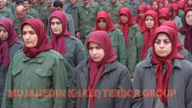 MEK members' at camp ashraff