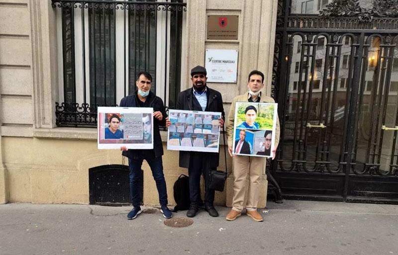 حضور جداشده ها در سفارت آلبانی در پاریس