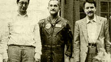 سرهنگ بهزاد معزی و مسعود رجوی