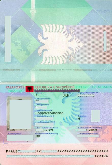 کارت بیومتریک آلبانی