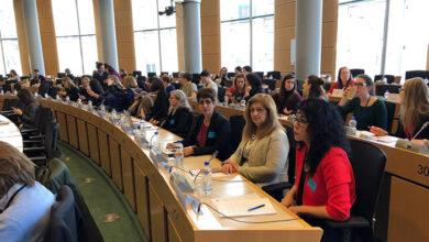 Photo of شرکت در کنفرانس بزرگ جهانی روز زن در پارلمان اروپا