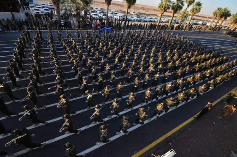 رژه حشدالشعبی در اشرف سابق
