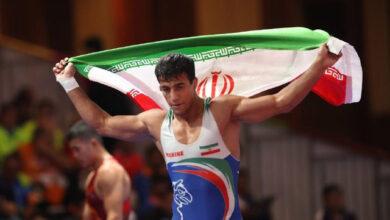 پیروزی تیم کشتی ایران