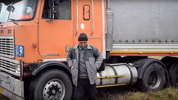 کامیوندار ایرانی در لهستان