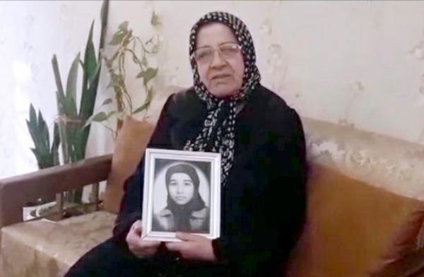 خانم عذرا حسینی مادر فروزنده کاکاوند