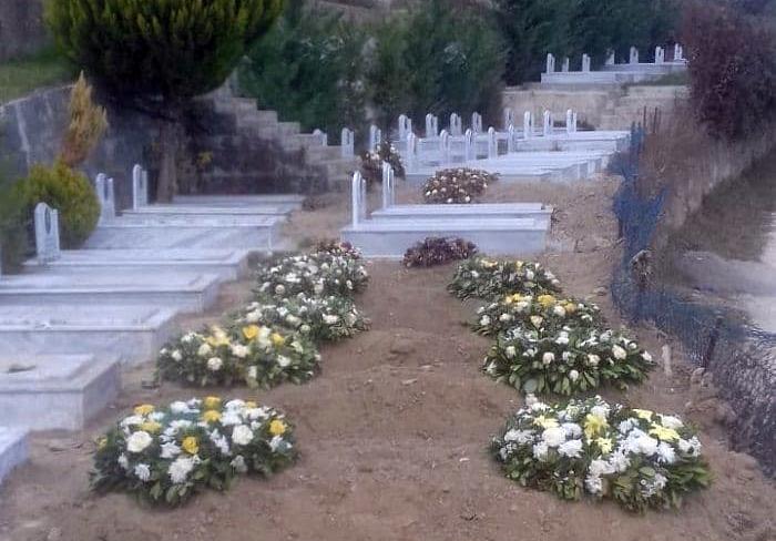 قبرستان مجاهدین خلق درکشور آلبانی ( فوتی های جدید کرونایی )