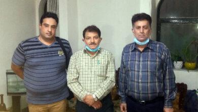 تصویر از دیدار اعضای انجمن نجات خوزستان با خانواده ولید مطوری