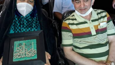 تصویر از خانم سکینه فرحناک درخواست دیدار حضوری و یا مجازی با خواهرش را دارد