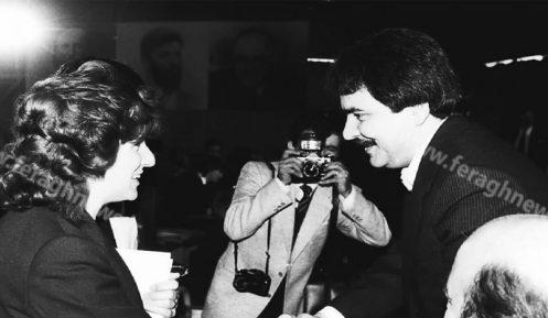 مسعود رجوی و خبرنگار زن