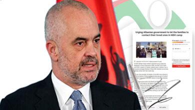 Photo of نامه انجمن نجات خوزستان به نخست وزیر آلبانی