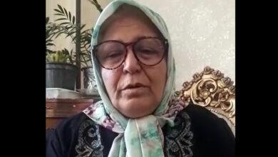 تصویر از تنها آرزوی یک مادر در یک پیام ویدیوئی