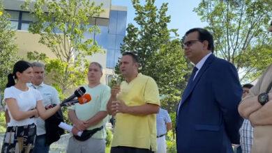Ehsan bidi press conference in Tirana