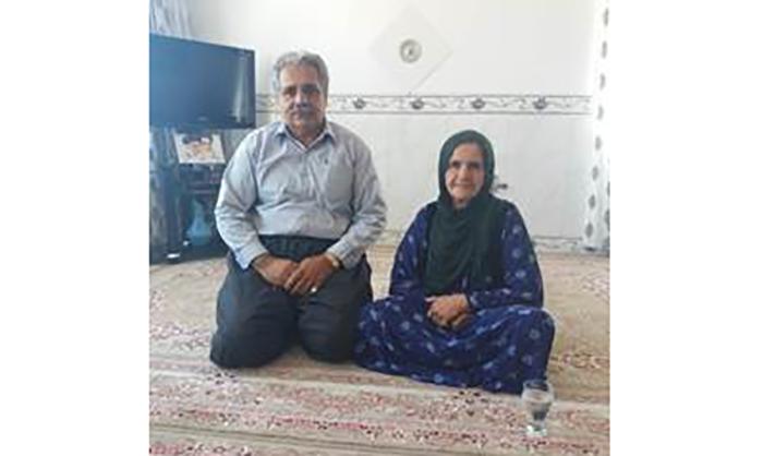 Abdolkarim Karimi mother from Kermanshah